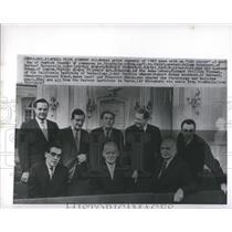 1965 Press Photo Nobel Prize winners of 1965 at Swedish Chamber of Commerce
