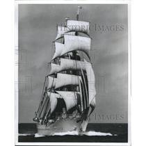 "Press Photo U.S. Coast Guard Academy training bark the ""Eagle"" - RSH46029"