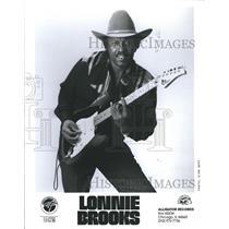 1981 Press Photo Lonnie Brooks musician - RSH63389