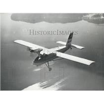Press Photo Small Plane In Flight Taken From Above