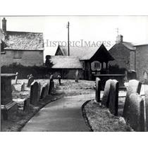 1905 Press Photo Churchyard &Lych-gate church of St. Martin - Bladon- Blenheim.