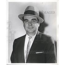 1961 Press Photo Rudy Pilous Coach Chicago Black Hawks - RSH65977