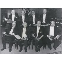 1967 Press Photo Eight Nobel Prize winners in Stockholm