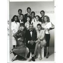 "1984 Press Photo Entire Cast of ""Berrenger's"" NBC TV Series - RSH79889"