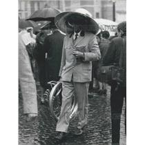1966 Press Photo Italian Communists Staged Rally in Piazza del Popolo