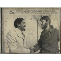 1973 Press Photo Black Panther Bobby Seale & David Currier - RSH97225