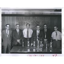 1971 Press Photo Times Independent Men's League Champions, John Breen,
