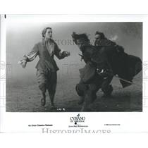 1950 Press Photo Cyrano De Bergerac Movie. Actor being chased. - RSH67391