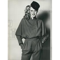 1979 Press Photo Paco Rabanne Outfit from Autumn and Winter Collection