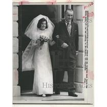 1966 Press Photo President Johnson and his daughter Luci leave for her wedding