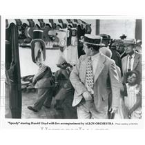 "1928 Press Photo Actor Harold Lloyd in ""Speedy"" Silent Film - DFPG59491"
