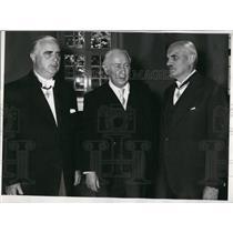 1955 Press Photo Prof. Heuss, Dr. A.H. Comton, and Dr. Carl J. Burckhardt