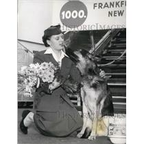 1954 Press Photo 1,000th Animal to Fly on KLM.