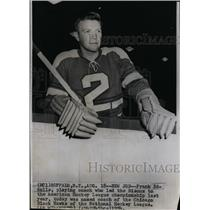 19541 Press Photo Frank Eddolls, Coach, Chicago Blackhawks - RSL73489
