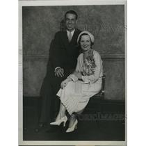 1931 Press Photo Yankee Short Stop Lynn Lary Marries Mary Lawlor - RSL76323