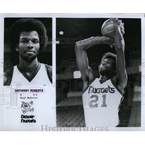 1978 Press Photo Anthony Roberts on the Denver Nuggets basketball - RSL74301