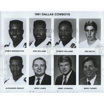 1991 Press Photo Dallas Cowboys Football Players and Coaches