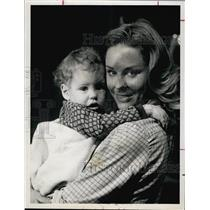 1960 Press Photo Actress Cheryl Miller & Child - RSL60927