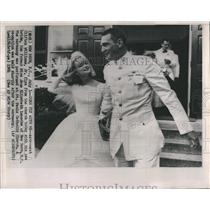 1964 Press Photo Astronaut Clifton Williams Jr. wed Jane Elizabeth Lansche.