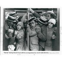 "1928 Press Photo Actor Harold Lloyd in ""Speedy"" Silent Film - DFPG59489"