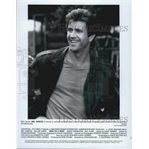 "1990 Press Photo Actor Mel Gibson Starring In Comedy Film ""Bird On A Wire"""