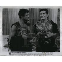"1960 Press Photo Actor Victor Mature & Franco Silva ""Hannibal"" - RSL91085"