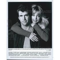 "1990 Press Photo Actor Mel Gibson And Goldie Hawn Star In Film ""Bird On A Wire"""