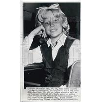 1964 Press Photo Deaf June Reed(12) Makes Acting Debut On Ben Casey TV Show