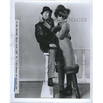 1969 Press Photo Carl Reiner and Michele Lee, actor and actress. - RSH54673