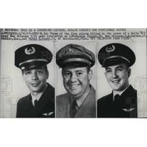 1967 Press Photo Pilots killed in crash, Geo Piazza, JW Morton & David Posey