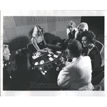 1985 Press Photo Royal Odyssey Cruise Ship Casino Table - RRR91945