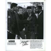 1990 Press Photo Actor Mykel T. Williamson, Gary Cole, Keith Williams, Clifford