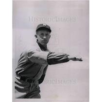 1936 Press Photo Jimmy DeShong, Pitcher, Washington Senators