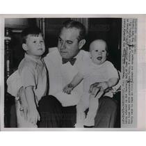 1952 Press Photo Bill Terry, New York Giants, Ken Terry, Tim Miller