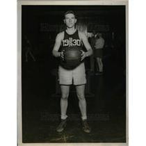 1929 Press Photo J.L. Townsend, Yale University Basketball