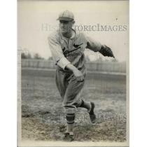 1928 Press Photo Kaufman Rookie Pitcher Spring Training St. Louis Cardinals
