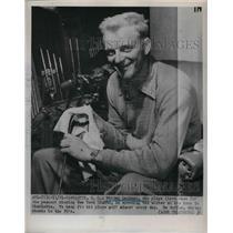 1951 Press Photo New York Giants First Baseman Whitey Lockman With Golf Clubs