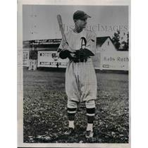 1935 Press Photo Alabama Pitts, centerfielder Albany Senators.