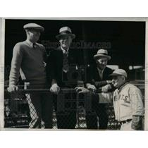 1933 Press Photo Chicago Cubs NY Giants Tom Sheehan Musel, Mike Dunlin Tom Clark