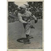 1934 Press Photo Leo A Magnum pitcher Boston Braves