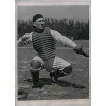 1937 Press Photo NY Yankee catcher Arndt Jorgens