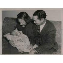 1936 Press Photo Buddy Myer Charles Stephen Washington Senators Son