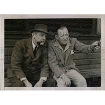 1940 Press Photo Joseph Gillleaudeau Vice Pres of Dodgers & Pres.Larry MacPhail.