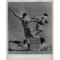 1951 Press Photo Chicago Cubs Ralph Kiner And New York Giants Whitey Lockman
