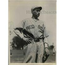 1929 Press Photo pitcher Ed Durham at Boston Red Sox spring camp in Bradenton FL