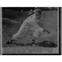 1953 Press Photo High School Pitching Ace Chuck Bauer Has Three No Hit Games
