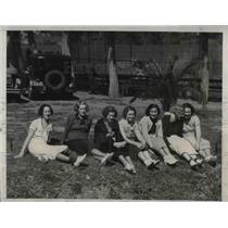 1934 Press Photo Mrs. P. Gerber, Mrs. S. Simon, Mrs. C. Grimm, Mrs. B. Tate