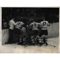 1939 Press Photo Rangers vs Maple Leafs at Madison Square Garden