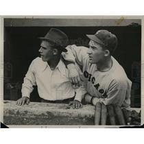 1933 Press Photo Frankie Parker, Al Simmons - nea06192