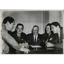 1947 Press Photo Billy Meyer, Roy Hamey, John Galbreath, Frank McKinney